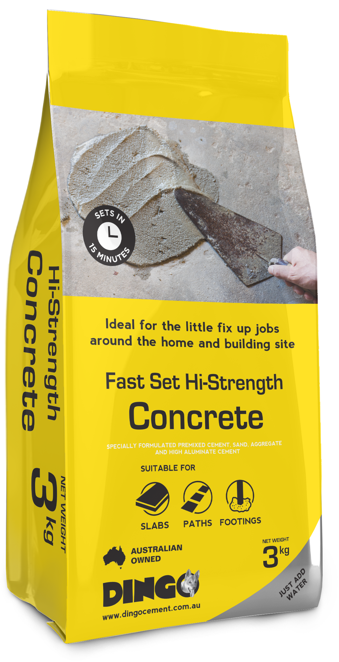 Fast Setting Cement : Dingo cement safety